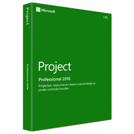 Microsoft Project Professional 2016 voor Windows