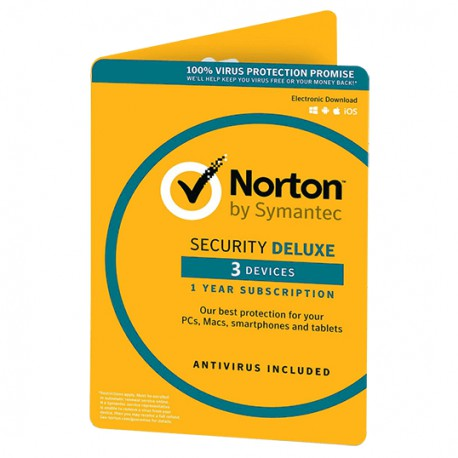 NORTON SECURITY DELUXE 3-DEVICES 1 YEAR (DIGITAL LICENSE)