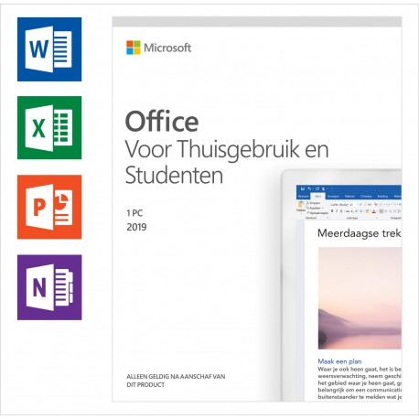 Microsoft Office Home and Student 2019 voor 1 PC
